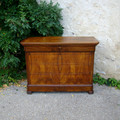 Grande commode Louis Philippe en noyer