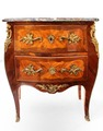 Commode Louis XV estampillée J-B Saunier""